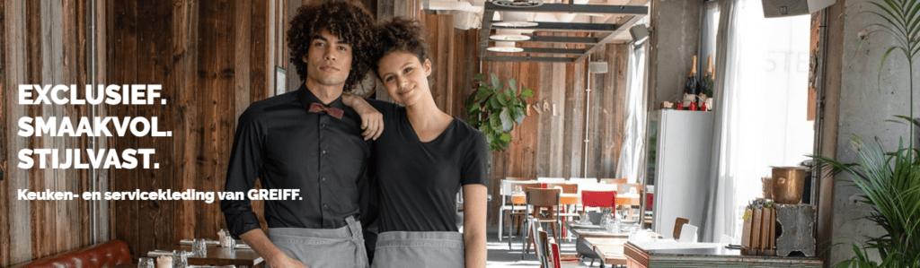 keuken en servicekleding van Greijff is exclusief, stijlvol en vast